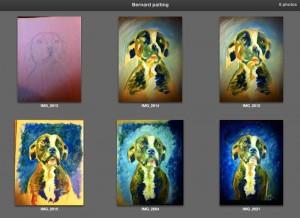 Bernard. Process photos.